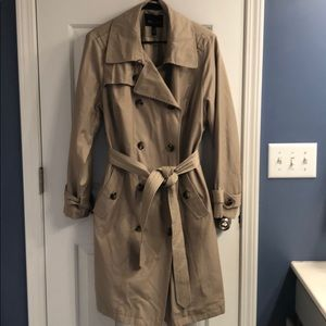 Gently used lined khaki trench coat